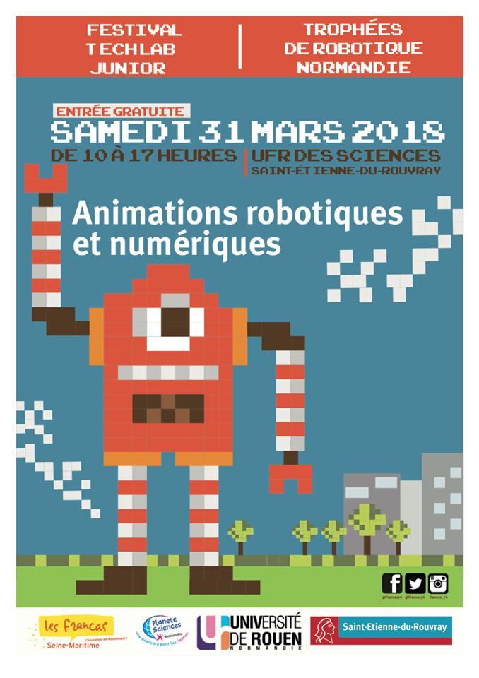 Festival Techlab Junior  - Trophées de robotique Normandie